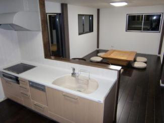 静岡県、LDK(キッチン)リフォーム施工後