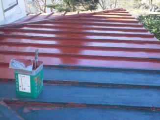 屋根塗装、静岡県(施工中)